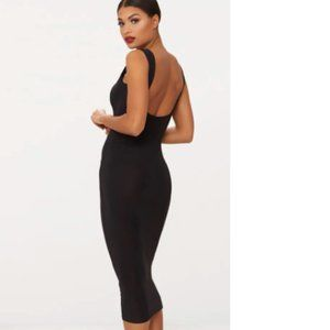 PrettyLittleThing Scoop Neck Low Back Midaxi Dress